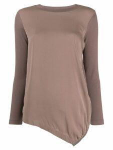 Fabiana Filippi asymmetric hem sweatshirt - Neutrals