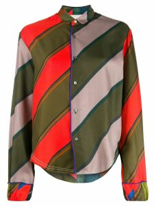 Rohka striped button shirt - Green