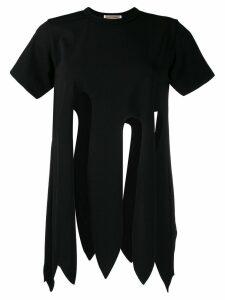 Comme Des Garçons cut out T-shirt - Black