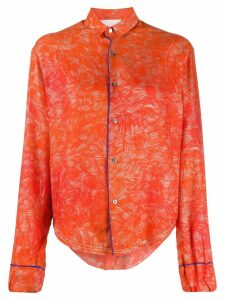 Rohka stroke print shirt - ORANGE