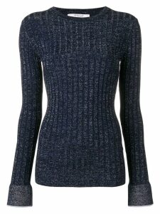Derek Lam 10 Crosby lurex rib pullover - Blue