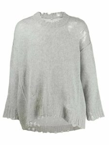 R13 distressed cashmere sweater - Grey