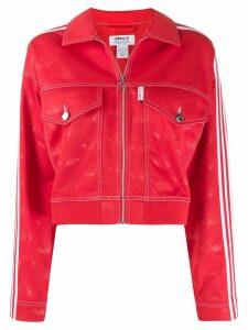 Fiorucci Fiorucci x Adidas All Over Angels Crop jacket - Red