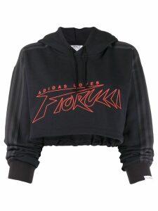 Fiorucci x Adidas cropped sweatshirt - Black