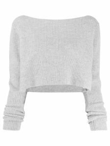Le Kasha cannes cropped jumper - Grey