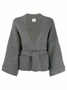 Le Kasha iwakura belted cardigan - Grey