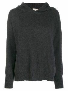 Le Kasha Riga knit hoodie - Grey