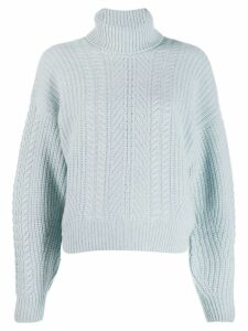 Le Kasha pontavin cable knit jumper - Blue