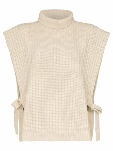 See By Chloé roll neck tie-side jumper - NEUTRALS