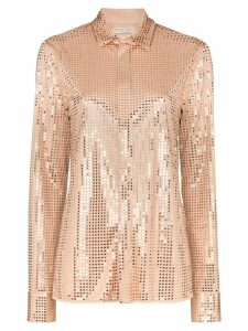 Bottega Veneta embellished button-down shirt - NEUTRALS