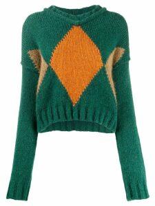 Brag-wette argyle sweater - Green