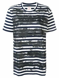 Y's brushed print T-shirt - White