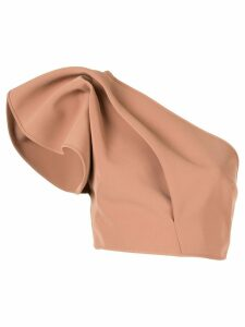 Acler Habana cropped top - NEUTRALS
