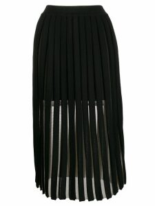 Balmain layered pleated midi skirt - Black