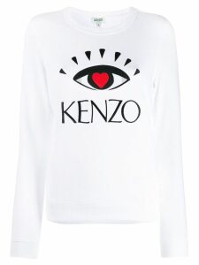 Kenzo Eye embroidered print sweater - White