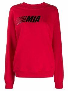 Mia-iam logo sweater - Red