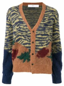 Toga Pulla contrast animal print cardigan - Brown