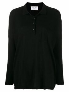 Snobby Sheep fine knit polo shirt - Black