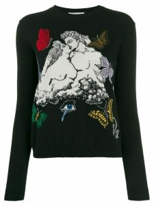 Valentino jacquard knitted jumper - Black