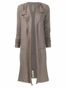 Rick Owens open front cardigan coat - NEUTRALS
