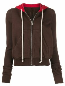 Rick Owens DRKSHDW colour block hoodie - Brown