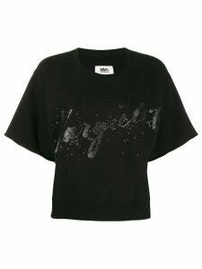 Mm6 Maison Margiela logo oversized T-shirt - Black