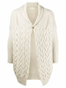 Ma'ry'ya cable knit cardigan - NEUTRALS