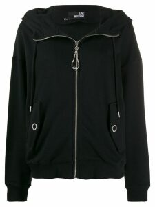 Love Moschino zip-up hoodie - Black