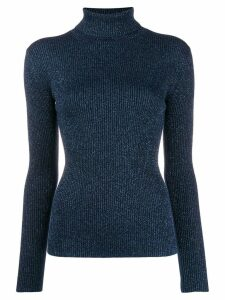 P.A.R.O.S.H. ribbed turtle neck sweater - Blue