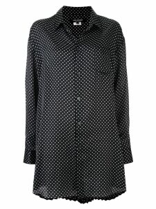 Junya Watanabe long polka-dot shirt - Black