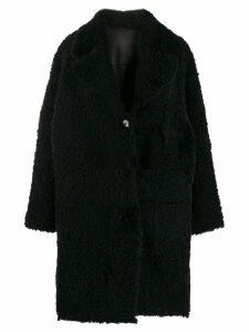 Drome midi shearling coat - Black