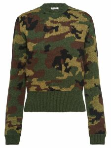 Miu Miu knitted camouflage jumper - Green