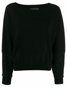 Fabiana Filippi round-neck sweatshirt - Black