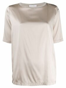 Fabiana Filippi short-sleeve silk top - NEUTRALS