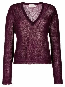 Chiara Bertani V-neck jumper - PURPLE
