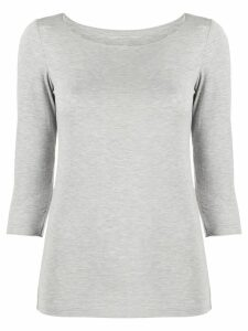 Majestic Filatures cropped sleeves jumper - Grey