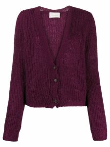 Chiara Bertani V-neck cardigan - PURPLE