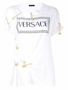 Versace safety pin T-shirt - White