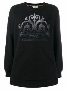 Fendi embroidered FF logo sweater - Black