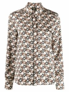 LIU JO monogram print shirt - NEUTRALS