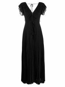 Twin-Set pleated long dress - Black