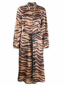 Liu Jo tiger print belted dress - Neutrals