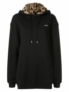 Markus Lupfer sequinned lip hoodie - Black