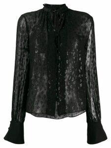 Karl Lagerfeld leopard jacquard shirt - Black