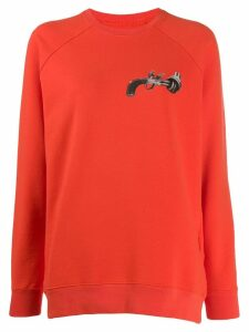 Kirin gun print sweatshirt - Orange