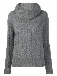 Blumarine cowl neck jumper - Grey