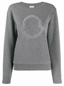 Moncler beaded logo sweatshirt - Grey