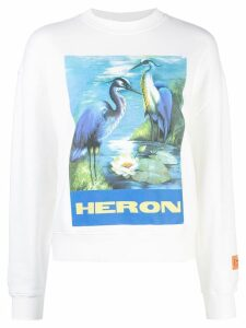 Heron Preston graphic print Heron sweatshirt - White