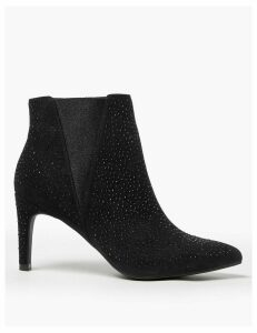 M&S Collection Embellished Stiletto Heel Chelsea Ankle Boots