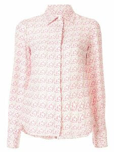 Victoria Beckham floral tailored shirt - PINK
